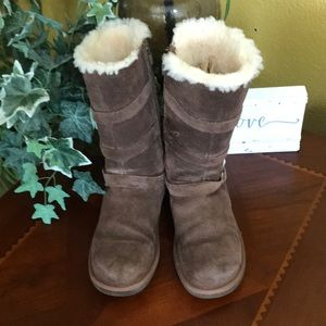 UGG Chocolate Brown Maddi Buckle Boots